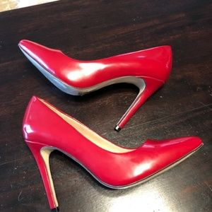 """Mix No 6 - Red Patent Leather 4"""" Pump 6.5 - 7"""